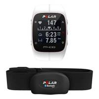 Polar M400 Cardiofrequenzimetro con GPS Integrato e Fascia Cardio Bluetooth Smart per Corsa Outdoor e Indoor, Bianco