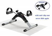 EXEFIT Pedal trainer Pedale della bici mini bike esercizio Pedale Exercycle con monitor LCD per il recupero di braccia e gambe,con rilievo antisdrucciolevole