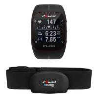 Polar M400 Cardiofrequenzimetro con GPS Integrato e Fascia Cardio Bluetooth Smart per Corsa Outdoor e Indoor, Nero