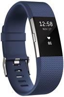 Fitbit Charge 2 Braccialetto Monitoraggio Battito Cardiaco e Attività Fisica, Blu, Taglia L