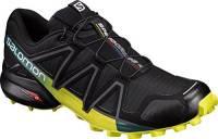 Salomon Speedcross4, Scarpe da Trail Running Uomo, Black/Everglade/Sulphur Spring, 43 1/3 EU