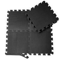 Tappeto da fitness a puzzle – set di 18 pezzi   superficie di protezione per pavimenti   materassino per palestra, workout, ginnastica   tappetino facile da pulire   efficace contro i liquidi e urti