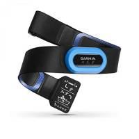 Garmin HRM-Tri Fascia Cardio per Nuoto, Corsa e Ciclismo, Rilevamento Frequenza Cardiaca, Nero/Azzurro