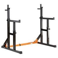 MiraFit - Rack regolabile per squat con aste da dip e barra di sicurezza multiposizione