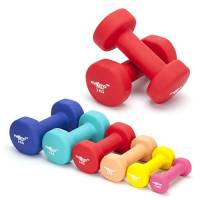 Maximo Fitness - Pesi Dumbbell in Neoprene (Coppia) - 0.5kg, 1kg, 2kg, 3kg, 4kg, 5kg - Pesi per Uso a Mano Perfetti per Esercizi di Rafforzamento, Tonificazione Muscolare, Allenamento in Casa e Riabilitazione - Ideali per Uomo e Donna.