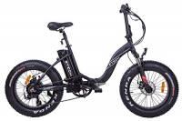 """Fat-Bike Bicicletta Elettrica Pieghevole a Pedalata Assistita 20"""" 500W Z-Tech Nera"""