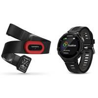 Garmin Forerunner 735XT GPS Avanzato Cardio da Polso Nero / Grigio Fascia HRM-Run Bundle 010-01614-15