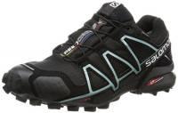 Salomon Speedcross 4, Scarpe da Trail Running Donna, Nero (Black/Black/Metallic Bubble Blue 000), 38 2/3 EU