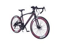 Helliot Bikes Sport 01, Bici da Strada Unisex – Adulto, Nero/Rosso, M-L