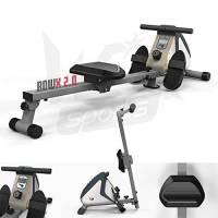 We R Sports RowX2Vogatore Magnetico, Unisex, RowX2, White/Silver, N/A