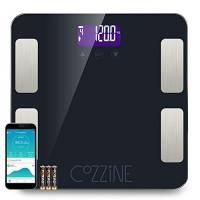 Cozzine Bilancia Pesapersone Digitale con Bluetooth e App per Telefoni Android - Bilancia Digitale da Bagno Misure del Peso del Corpo, Grasso Corporeo, BMI, Acqua, Massa Muscolare, Massa Ossea ecc.