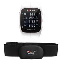 Polar M400, Orologio GPS con Fascia Cardio Bluetooth Smart Adulto Unisex, Bianco, M