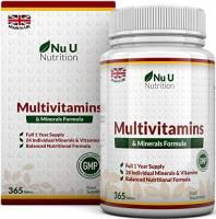 Integratore Multivitaminico e Multiminerale | 365 Compresse (Fornitura Fino A 1 Anno) | 24 Vitamine e Minerali per Uomini e Donne, Adatto ai Vegetariani | Integratori alimentari Nu U Nutrition