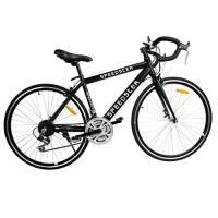 "Ridgeyard 26"" 54cm Alluminio bici da strada bici da corsa 21 velocità 700cc (nero)"