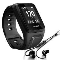 TomTom Spark Cardio+Music Orologio GPS per Fitness con Auricolari Bluetooth, Lettore Musicale e Cardiofrequenzimetro Integrato, Cinturino Small, Nero