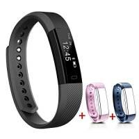 NAKOSITE SB2433 Pedometro Contapassi da polso, Fitness Activity Tracker, Conta Calorie, Distanza, Monitor Sonno, Orologio Sport. Bluetooth 4.0, per Android 4.4 o IOS 7.1 o superiori. PIÙ: SMS...