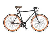 Cicli Gloria Magenta fixed, Nero matte/arancio