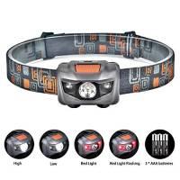 Linkex Torcia Lampada Frontale LED Lampada da testa LED con 4 Modalità di Illuminazione Luce da Testa Perfetta per Correre Camminare Leggere Campeggio o Arrampicata 3 x batterie AAA incluse