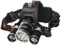 5000Lm CREE Xml-T6 Torcia Frontale LED + 2Pz Ricaricabile Batteria 18650 + 4.2V