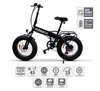 Nilox E Bike X4, Fat Bike Pieghevole  - Adulto, Nero, Taglia Unica