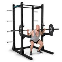 Capital Sports Bestride Power Rack Power Station Power Cage 2 x Safety-Spotter 2 x J-Cups 2 Barre per Pull Up 8 Supporti per Peso 184 x 225 x 170 cm Acciaio Massiccio Nero