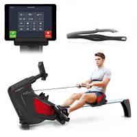 Sportstech RSX500 vogatore pieghevole con controllo smartphone, app, 12 programmi di allenamento + 4 per pulsazioni (con cintura da 39,90€ inclusa) e 16 livelli di resistenza