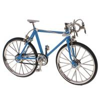 MagiDeal 1/10 Scala Modellini Di Bicicletta Modello Da Corsa Bici Replica Miniature Casa Bambola Decorazione Giocattoli Bambini Regali Lega - Azzurro