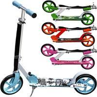 """MONOPATTINO """"Skater Boy"""" – moderno e pieghevole (incl. tracolla) freno a frizione posteriore e cavalletto altezza regolabile-manubrio pieghevole in alluminio design moderno ruote in PU"""