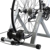 PedalPro Rullo turbo trainer magnetico per bicicletta con regolatore velocità sul manubrio