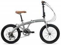 """Fabricbike Folding Pieghevole in Alluminio, 20"""", Bicicletta Single Speed, 3 Colori (Turbo Space Grey 6 Speed)"""