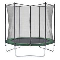 Czon Sports Trampoline 250, 250 cm tappeto elastico con rete di sicurezza, verde trampolino elastico da giardino trampolino bambini
