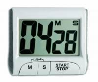 TFA 38.2021.02 38.2021-Timer elettronico, con cronometro, Metallo, Bianco