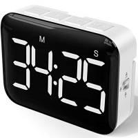 NOKLEAD Digitale Timer da Cucina: cronometro con conto alla rovescia magnetico con ampio display a LED, volume e luminosità regolabili, facile da usare per bambini anziani (batterie incluse)