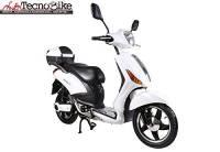 Tecnobike Shop Scooter Bicicletta Elettrica a Pedalata Assistita Z-Tech ZT-09-CL 500w 48V - 20Ah Batteria a Litio (Bianco)