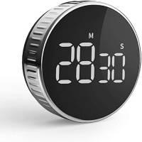 Timer da Cucina Cronometro o Conto alla Rovescia Digitale Timer per Cottura Classe Studio Allenarsi Magnetico Countdown Contaminuti Kitchen con Display LCD, Funzione Pausa, Disegno Knob