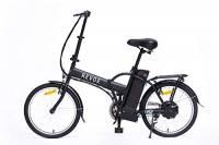 REVOE Fly, Bicicletta Elettrica Pieghevole 20' Misto Adulto, Nero
