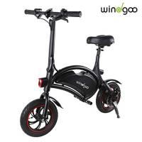 Windgoo Bicicletta Elettrica Pieghevole, Senza Pedale, Altezza del Sedile Regolabile, Maneggevole, Compatta Portatile, Potenza 350 W Batteria 36V 6,0 Ah, velocità Massima 30 km/h (Nero)