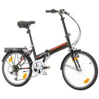 "Bikesport FOLDING Bicicletta Pieghevole 20"" (Nero)"