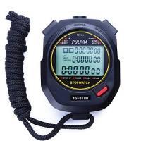 PULIVIA Cronometro Sportivo,Cronometro Digitale con Memoria a 100 Giri,Timer Conto alla Rovescia Calendario 12/24 Ore con Sveglia, Display Widescreen a 3 Righe Cronometro(Nero)