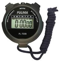 PULIVIA Sport Cronometro Timer Lap Split Memory Cronometro Digitale, Calendario 12/24 Ore con Sveglia, Cronometro Sportivo Antiurto per Nuoto Corsa Allenamento Calcio Allenatori Attrezzatura Arbitro