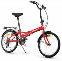 Anakon Folding Sport, Bicicletta Unisex Adulto, Rossa