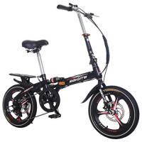 ODJOY-Fan-home 20 Pollici Leggero Mini Bici Pieghevole Piccola Bicicletta Portatile Studente Adulto Ruota Pieghevole Cambio Freno a Disco Unisex Assorbimento degli Urti Bicicletta Pieghevole