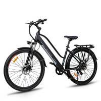 """Macwheel Cruiser-550 28"""" Bici Elettrica da Trekking, Batteria Rimovibile agli Ioni di Litio da 36 V/10 Ah, Sospensione Anteriore, Freni a Doppio Disco, Bicicletta Elettrica per Adulto Unisex"""