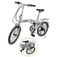 """Ridgeyard 20"""" 6 velocità argento pieghevole pieghevole regolabile City Bike biciclette scuola sport Shimano"""