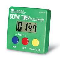 Learning Resources- Cronometro con conteggio incrementale/Conto alla rovescia, Colore, 10, LER4339